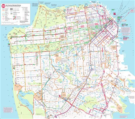 san francisco neighborhood map pdf municipal railway map san francisco california mappery