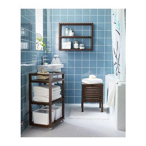 armarios y estanterias para baños molger asiento con almacenaje marr 243 n oscuro ikea