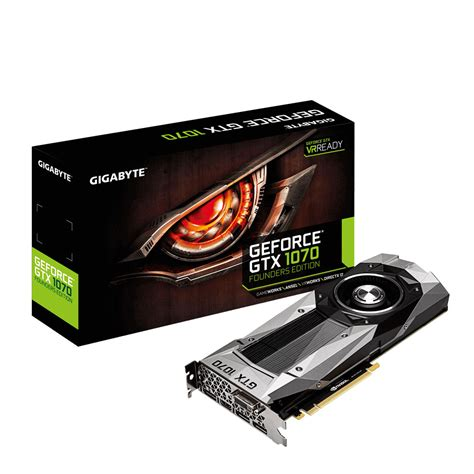 Vga Gigabyte Gtx1070 8g Windforce Oc gigabyte geforce gtx 1070 founders edition carte graphique gigabyte sur ldlc