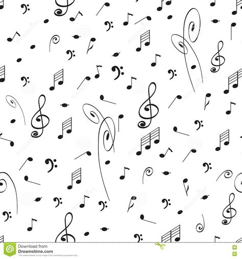 cute music pattern abstract music seamless pattern background with black