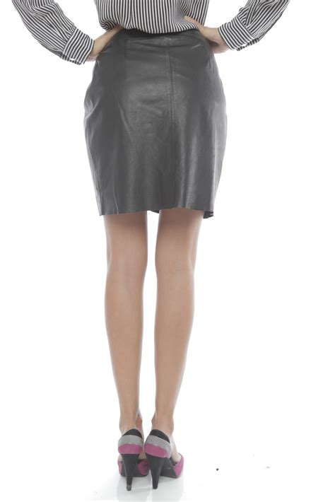 by yoyo yeung leather wrap skirt from houston by