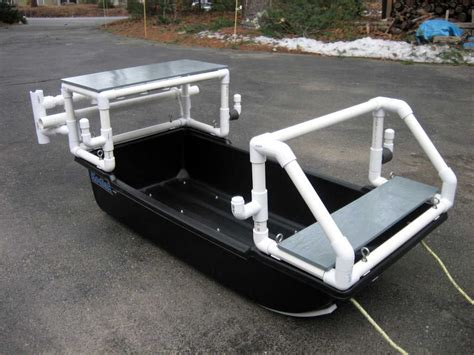 duck boat rod holders pvc pipe boat show us your pvc build add on rod