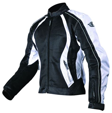 motorcycle gear agv sport womens xena mesh jacket2012 black white jpg