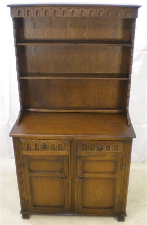 Pictures Of Antique Dressers by Antique Style Oak Dresser With Plate Rack