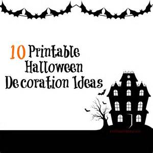 Halloween Paper Decorations Printable 10 Printable Halloween Decoration Ideas Real Momma