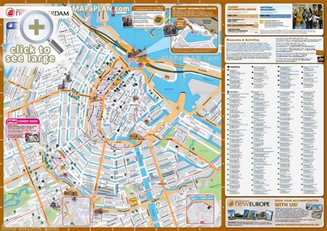 netherlands hostels map amsterdam maps top tourist attractions free printable