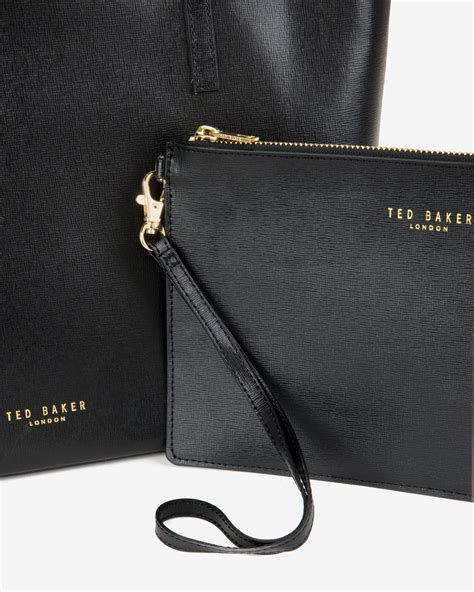 Introducing The Dooney Bourke Metallic Mambo Handbag Collection by Ted Baker Large Crosshatch Leather Shopper Bag In Black Lyst