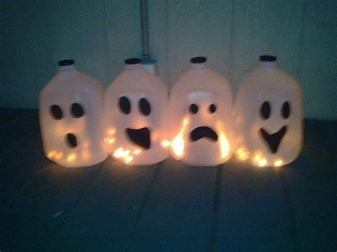 halloween milk jug ghosts     decorative light