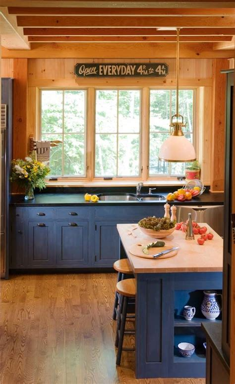 Country Blue Kitchen Cabinets by Pin By Donna Ratliff On Home Kitchens