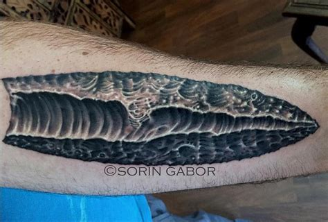 obsidian tattoo realistic black and gray obsidian by sorin gabor