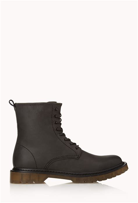 boots of 21men retro combat boots in black for lyst