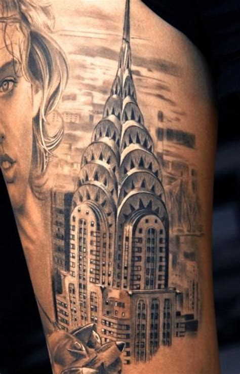 tattoo on back empire natural looking detailed black and white shoulder tattoo