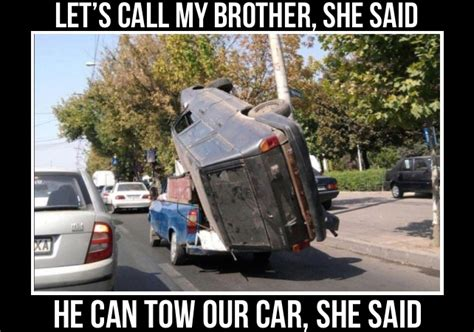 Towing Memes - car towing meme