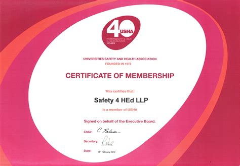 Records Certificate Safety 4 Hed Llp Certificates