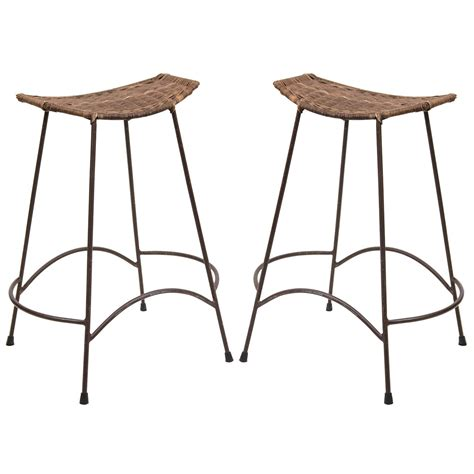 Umanoff Bar Stools by Pair Of Counter Height Bar Stools In The Manner Of Arthur