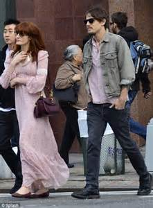 Too cool for pdas florence welch and her boyfriend have the look of