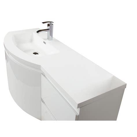 left bathroom vanity buy laurance 48 inch bathroom vanity by cbi high gloss