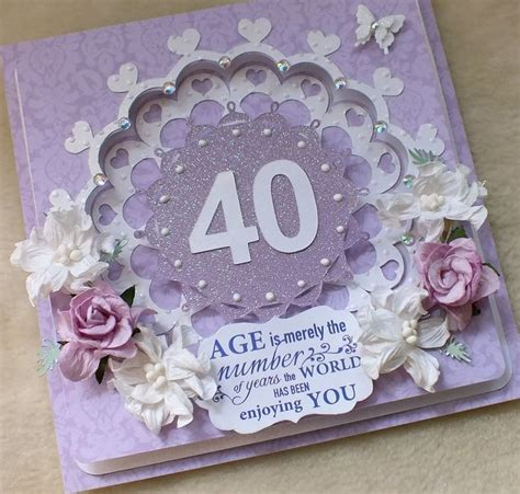 Handmade 40th Birthday Card Ideas - 188 best special age birthdays images on