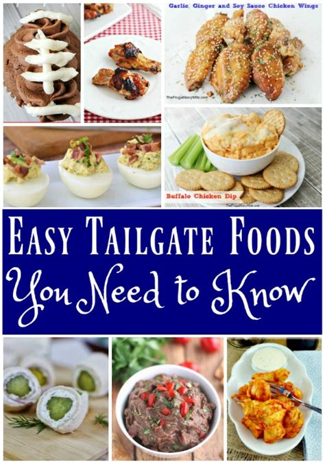 tail gate food food ideas
