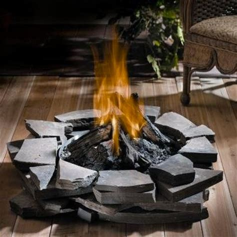 patioflame outdoor fireplace log burner set gas
