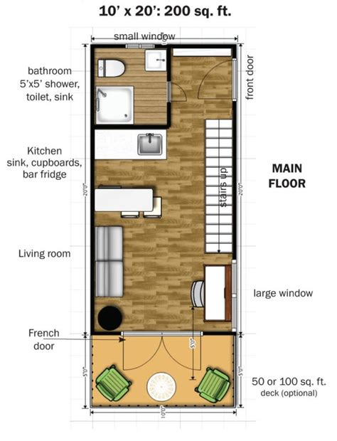 350 square foot house the eagle 1 micro home 0010 600x785 the eagle 1 a 350 sq