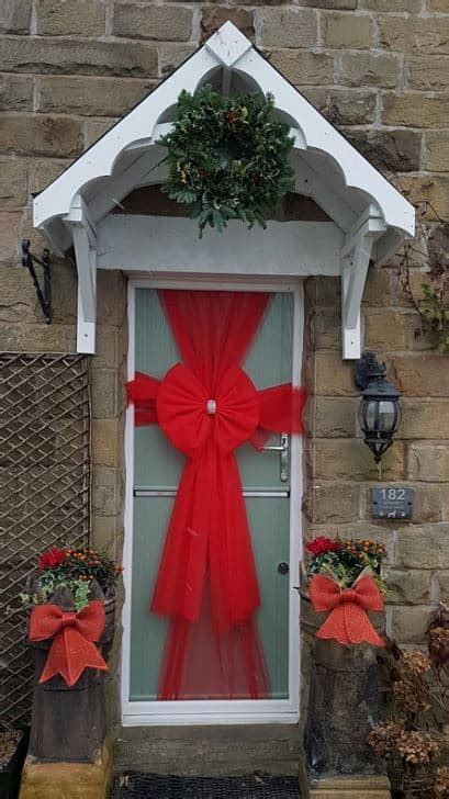 red net door bow decoration kit  christmas christmas
