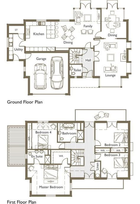 ground floor and first floor plan new ground floor first floor home plan new home plans design