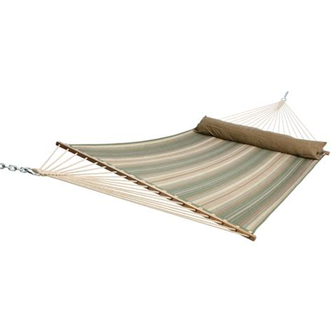 Hammock Swings Lowes allen roth stripe quilted hammock from lowes hammocks lounging furniture outdoor