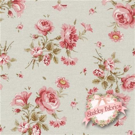 treasures by shabby chic vintage 102 e ecru tossed flowers by ashwell