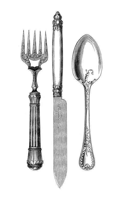 printable images of kitchen utensils diy vintage chic spoon and fork vintage artwork