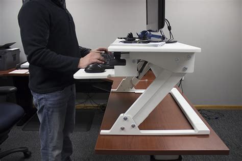 standing desk lift mechanism ergotron workfit t vs vertdesk converter which is better