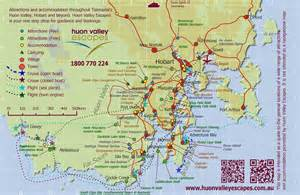 Map of southern tasmania accommodation attractions and information