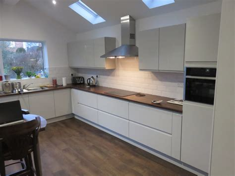 grey gloss kitchen cabinets light grey gloss strada kitchen the gallery fitted kitchens