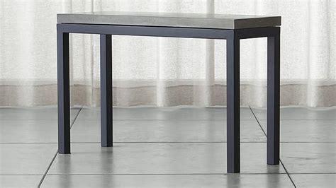 concrete top console table parsons black console table with grey concrete top