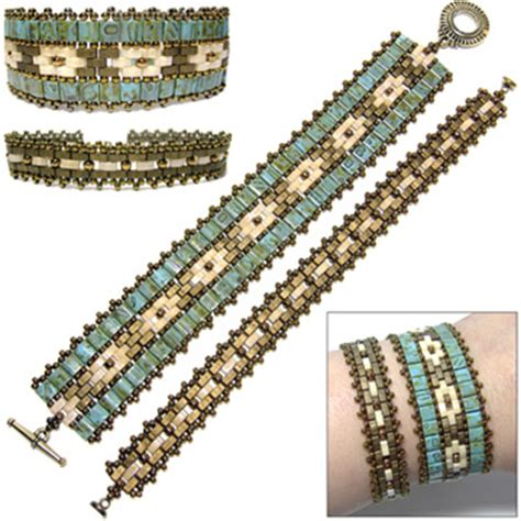 miyuki net pattern bracelet instructions crystal slider and seed bead ornament cover sova enterprises