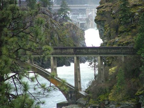 in post falls idaho april along the spokane river in post falls idaho