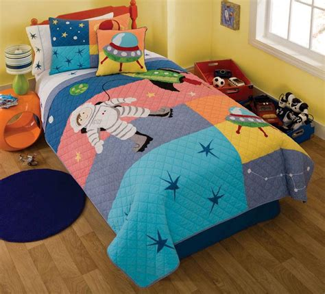 space bedding twin space astronaut planet rocket ufo boys twin quilt set ebay