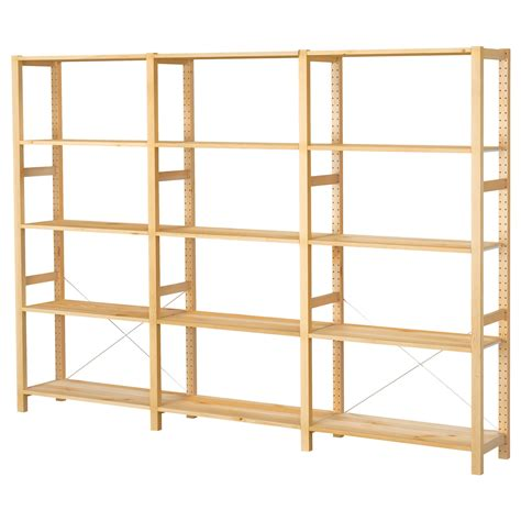 ikea shelving ivar 3 sections shelves pine 259x30x179 cm ikea