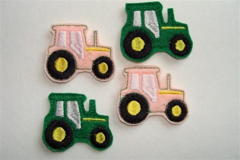 felt tractor pattern farm tractor 4 machine embroidered felt embellishments