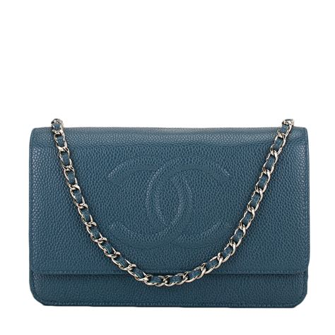 Chanel Caviar Chain chanel slate blue caviar timeless wallet on chain woc