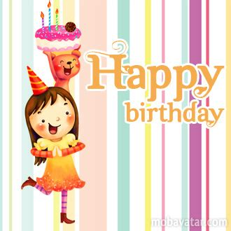 happy birthday girl mp3 download mobavatar com congratulation happy birthday smiley
