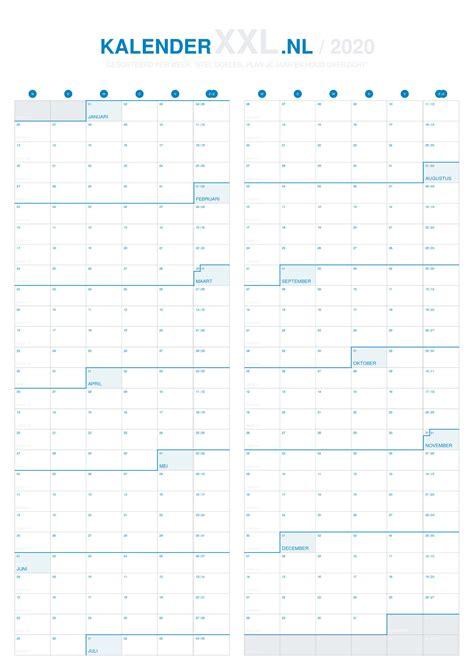 de grote jaarkalender van  kalenderxxlnl