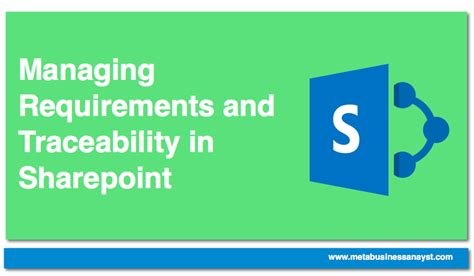 Top Mba School Requirements by Managing Requirements Traceability In Sharepoint Simple