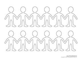 paper doll chain template tim de vall comics printables for