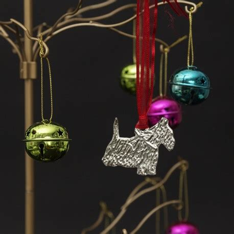 pewter westie christmas tree decoration westie dog xmas
