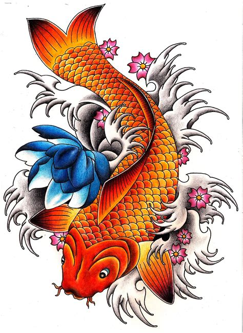 carp fish tattoo designs