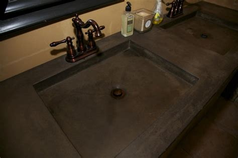 stained concrete bathroom acid stained concrete countertop mediterranean