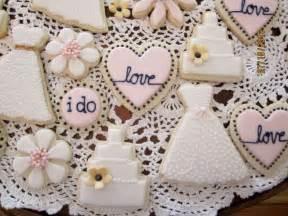bridal shower cookies ivory blush navy and metallic