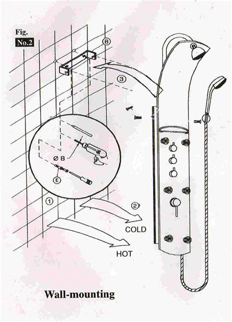 How To Install A Shower System by Shower Panels Installation Shower Panels Systems