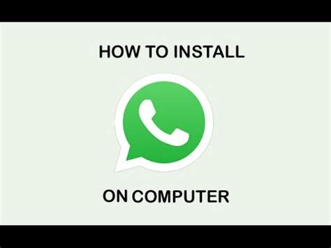 how to install whatsapp on pc how to install whatsapp and viber on pc youtube